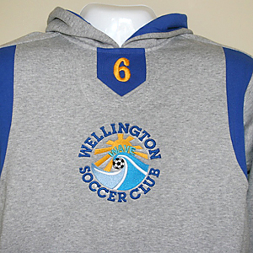 Charles River Hoodie with WSC Logo & Player Number